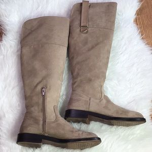 Zara Knee High Swede Long Boots